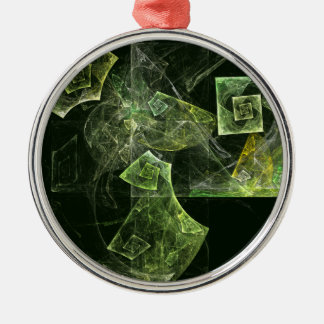 Twisted Balance Abstract Art Round Christmas Ornament