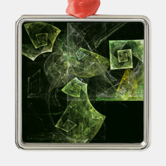 Twisted Balance Abstract Art Square Christmas Ornament