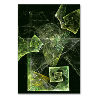 Twisted Balance Abstract Art Table Card