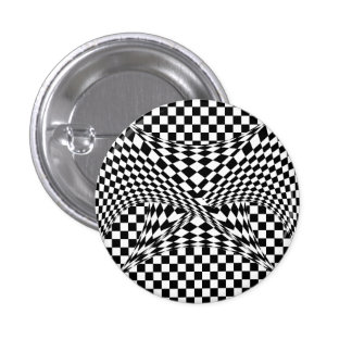 Twisted Checkers 3 Cm Round Badge