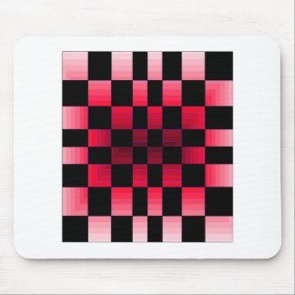 Twisted Chess Board Red Illusion CricketDiane Art Mouse Pad