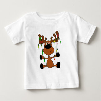 Twisted Christmas Moose Baby T-Shirt