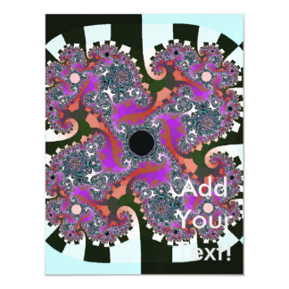 Twisted Colors Abstract Art Magnetic Invitations