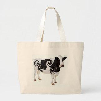 Twisted Cow Design Jumbo Tote Bag