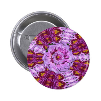 Twisted Dahlia Flower Pin Backed BUTTONS