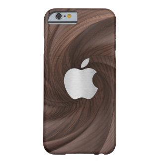 Twisted dark brown wood case