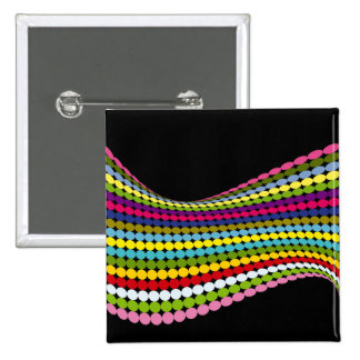 Twisted Dots 15 Cm Square Badge