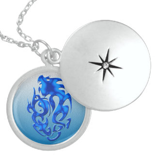 Twisted Dragon blue Necklaces