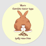 Twisted Easter Bunny Stickers