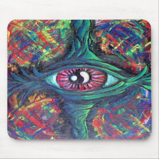 Twisted Eye Oil Painting for College Dorm Room Mouse Pad