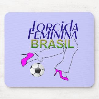 Twisted Feminine Brazil Mouse Pad