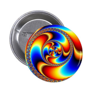 Twisted - Fractal 6 Cm Round Badge