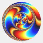 Twisted - Fractal Round Sticker