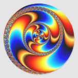 Twisted - Fractal Round Stickers