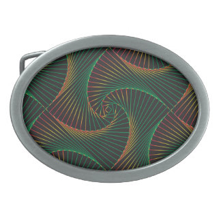 Twisted - Green and Red Belt Buckles