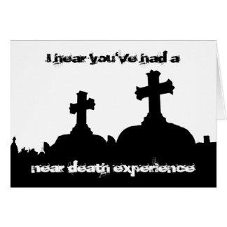 Twisted humor cemetery silhouette birthday note card