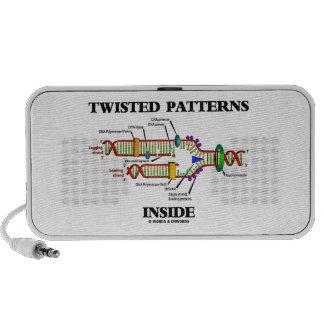 Twisted Patterns Inside Geek Humor DNA Replication Portable Speaker