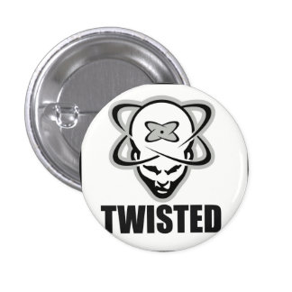 Twisted records 3 cm round badge