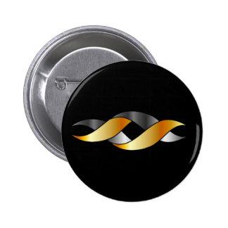 Twisted ribbon 6 cm round badge