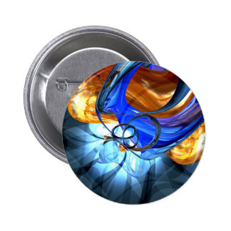Twisted Spiral Abstract Button