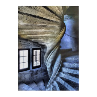 Twisted Spiral Staircase, France Acrylic Wall Art