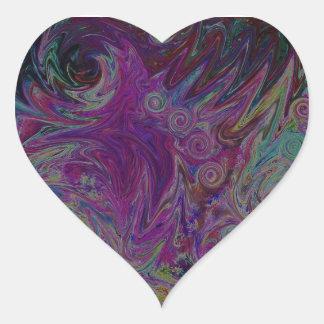 Twisted Stars Heart Sticker