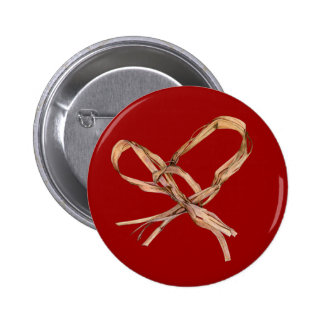 Twisted Twine Heart Red Button