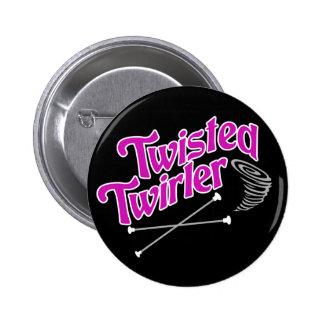 Twisted Twirler 6 Cm Round Badge