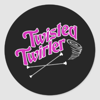 Twisted Twirler Round Stickers