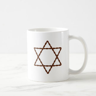 Twisted Wire Star of David Basic White Mug