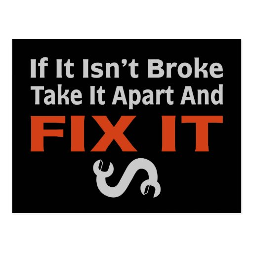 Twisted Wrench - FIX IT Post Cards