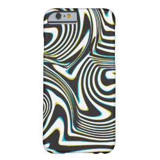 """Twisted zebra stripes pattern """"3d glass effect"""" barely there iPhone 6 case"""