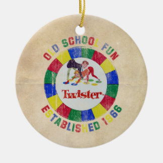 Twister Badge Christmas Ornament