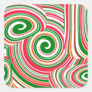 Twister, digital art design square sticker
