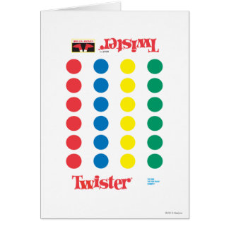 Twister Game Mat Card