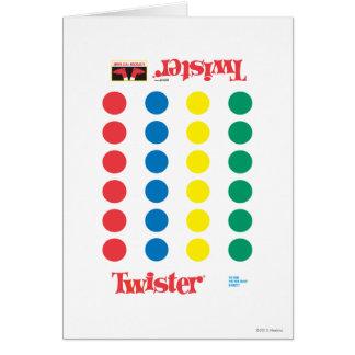 Twister Game Mat Greeting Card