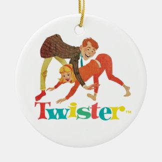 Twister Kids Round Ceramic Decoration