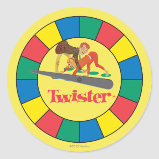 Twister Spinner Classic Round Sticker