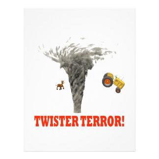Twister Terror Personalized Flyer