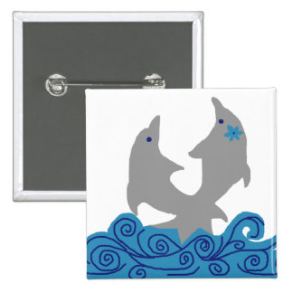 Twisting dolphins button