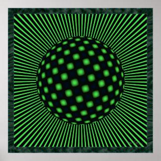 Twisting Electron Optical Illusion Poster