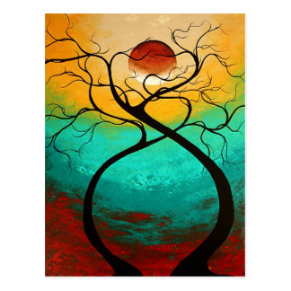 Twisting Love Original Art MADART Postcard Design