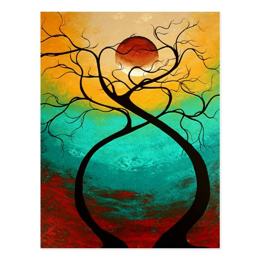 Twisting Love Original Art MADART Postcard Design