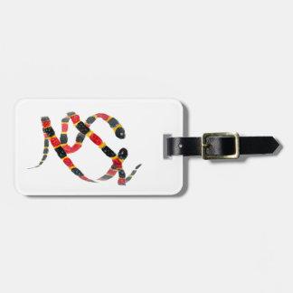 Twisting Snake Art Luggage Tag