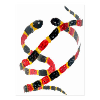 Twisting Snake Art Postcard