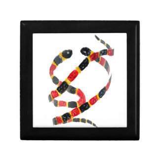Twisting Snake Art Small Square Gift Box