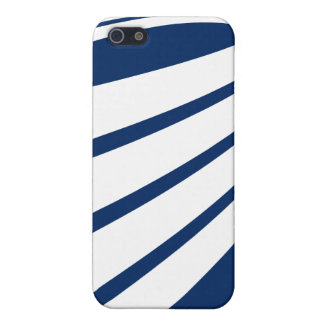 Twisting White lines on Blue iphone4 case