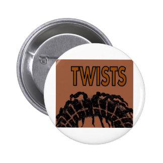 twists 6 cm round badge