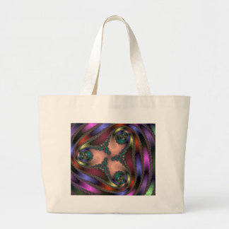 Twisty Chrome Color Abstract Canvas Bag