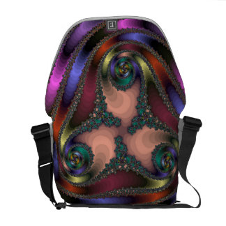 Twisty Chrome Color Abstract Messenger Bag